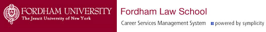 Symplicity - Fordham Law Online Career Services Manager